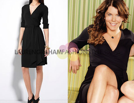 Dvf Wrap Dress Black Wrap Dress in Black MORE